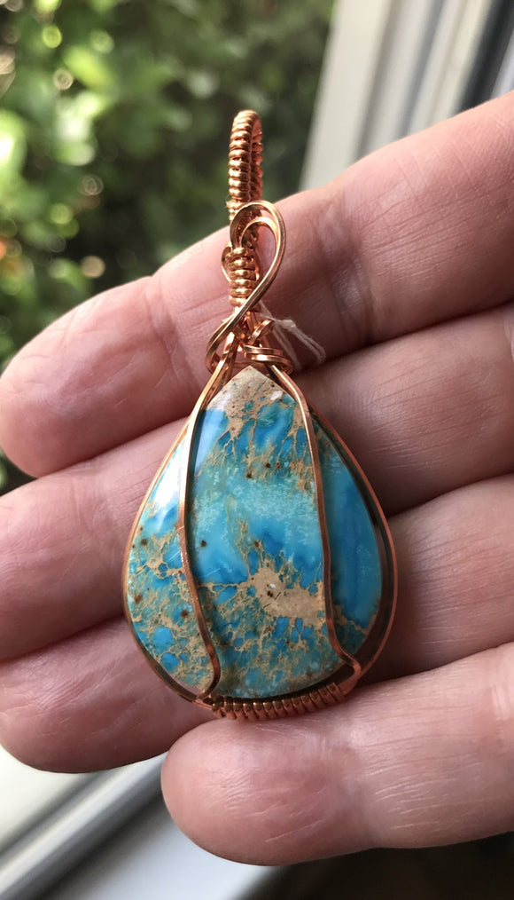 Sediment Jasper Pendant in Copper