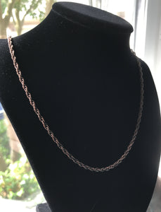 Antique Copper Chain Necklace 3mm