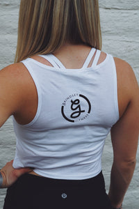 Women's Grindset Fitness Crop Top - White
