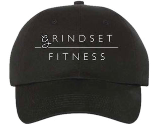 Grindset Fitness Dad Hat - Black