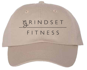 Grindset Fitness Dad Hat - Cream