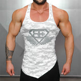 Fitness Tank Top Army Camo Bodybuilding Stringer