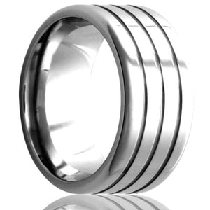 Flat Cobalt Wedding Band-C104