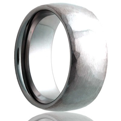 Tungsten Carbide Wedding Band TU111HAMMER