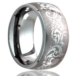 Tungsten Carbide Wedding Band TU111-V