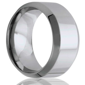 beveled edge Cobalt Wedding Band-C125