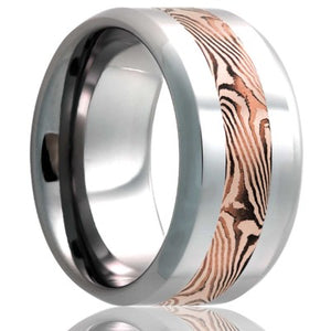 Cobalt Chrome and Mokume Gane Wedding Band
