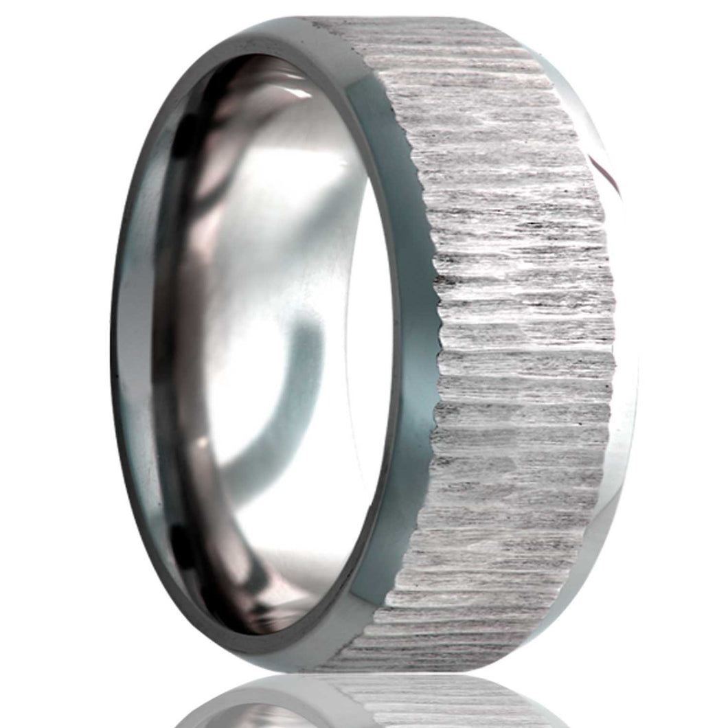 Beveled edge Cobalt Wedding Band-C325
