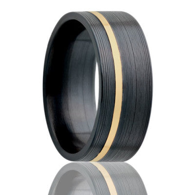 Flat Zirconium Wedding Band-Z402Y