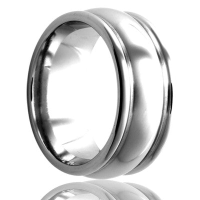Cobalt ring all high polished Wedding Band-C159