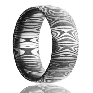 Damascus Steel Wedding Band D111
