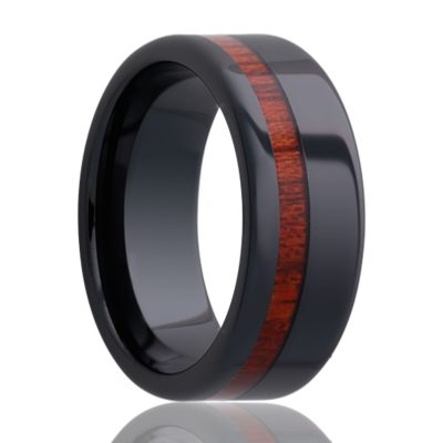 Black Diamond Ceramic Wedding Band BC102Blood