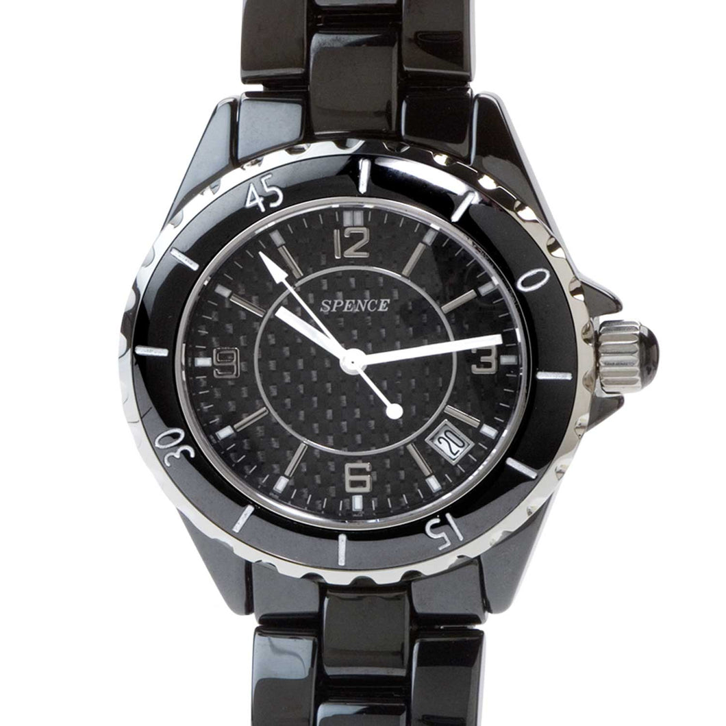Spence® Black Diamond Ceramic watch-BCW001
