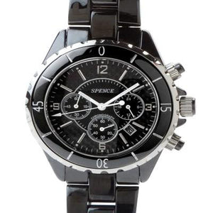 Spence® Black Diamond Ceramic watch-BCW002