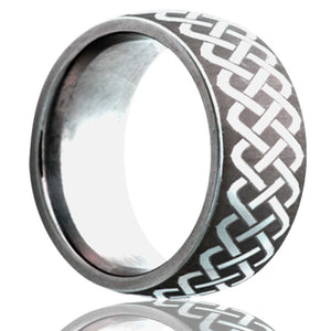 Dome Cobalt band, all high polish with a laser pattern Wedding Band- C111-O