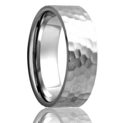 Flat Cobalt Wedding Band-C114HAMMER