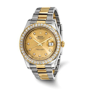 Pre-Owned Rolex Steel/18ky Mens Datejust II Diamond Watch