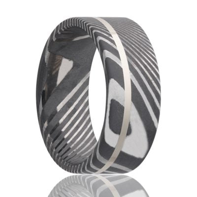 Damascus Steel Wedding Band D802SS