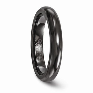 Titanium Black Ti Domed 4mm Band