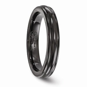 Titanium Black Ti Triple Domed 4mm Band
