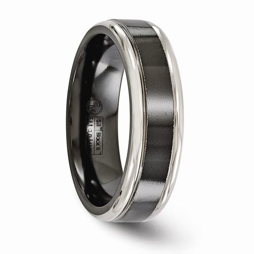 Titanium Black Ti Grey Edges 6.5mm Band