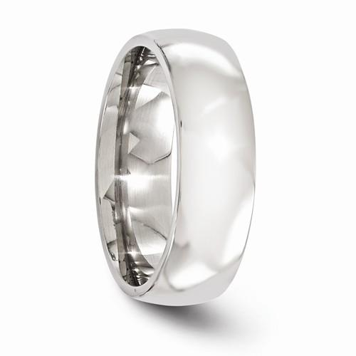 Titanium Polished 7mm Band