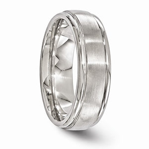 Titanium Brushed And Polished 7mm Band