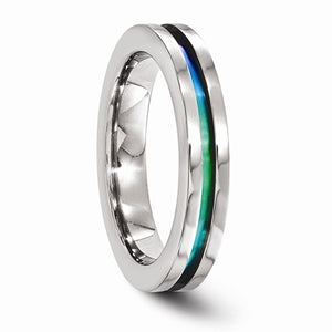 Titanium Anodized 4mm Band
