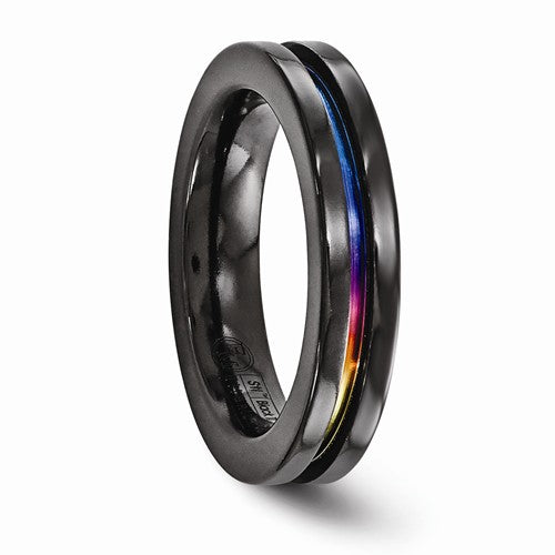 Black Ti Anodized 4mm Band