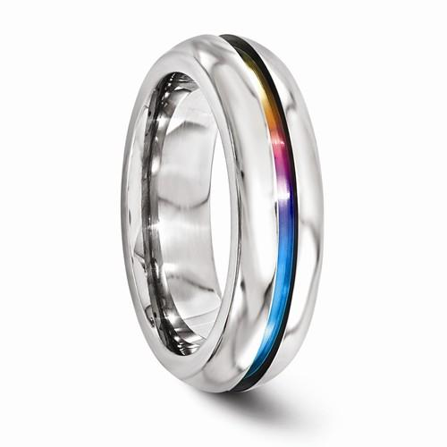 Titanium Anodized 6mm Band