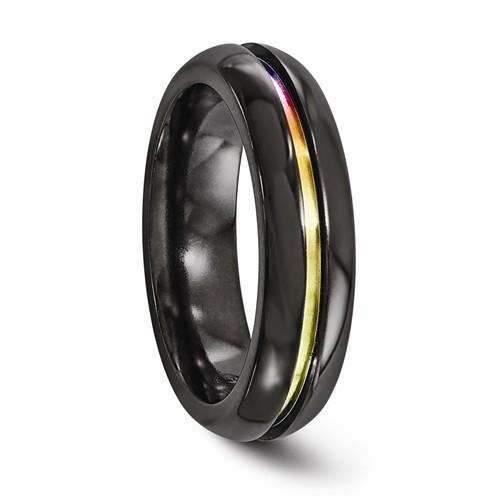 Black Ti Anodized 6mm Band