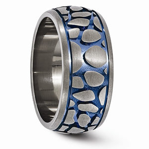 Titanium Blue Anodized Brushed 10mm Band