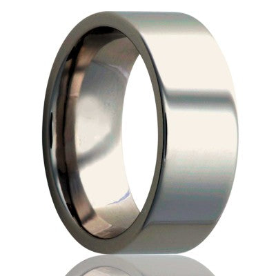 Flat-Stainless-Steel-ring-all-high-polish Wedding Band -S101-3