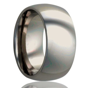 Dome-Stainless-Steel-ring-all-high-polish Wedding Band -S111-3