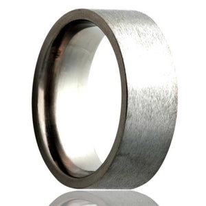 Flat-Stainless-Steel-ring-satin-finish-top Wedding Band -S114-3