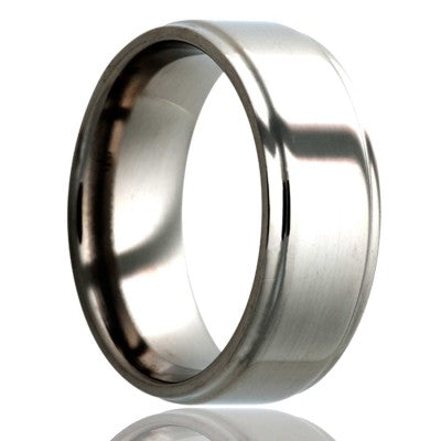 Step-edge-stainless-steel-ring-all-high-polish-edges Wedding Band -S117-3