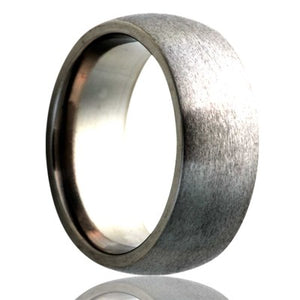 Dome-Stainless-Steel-ring-satin-finish-top Wedding Band -S133-3
