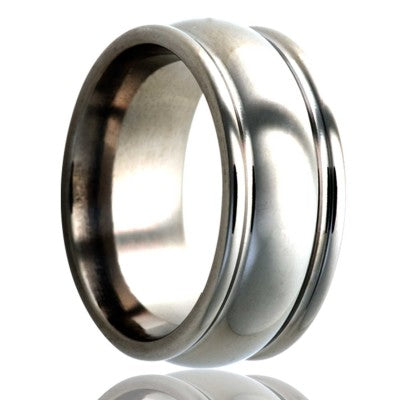stainless-steel-ring-all-high-polished Wedding Band -S159-3