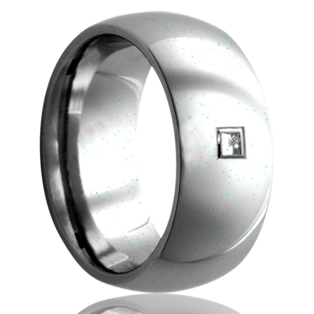 Dome Tungsten Wedding Band-TU111DSQ1