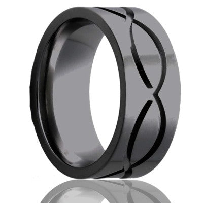 Zirconium Wedding Band Z101M1