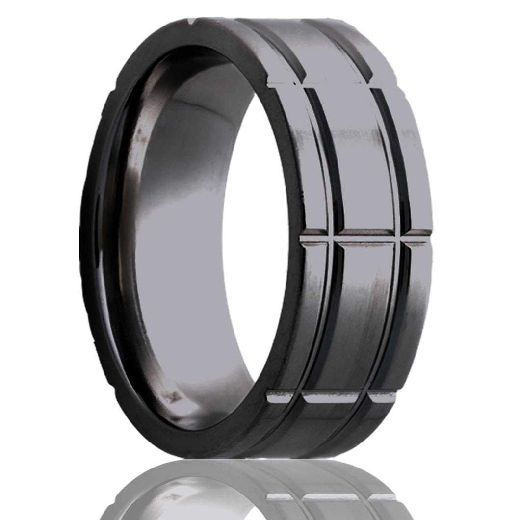 Zirconium Wedding Band Z101M5