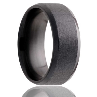 Zirconium Wedding Band Z107