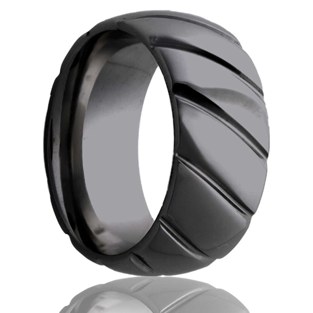 Zirconium Wedding Band Z111M24