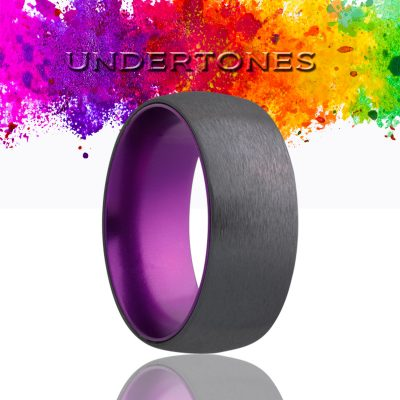 Dome Zirconium Wedding Band-ZA133PURPLE