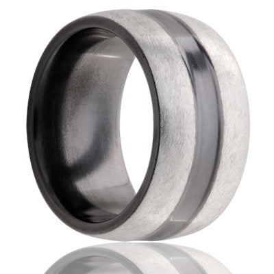 Zirconium Wedding Band Z137