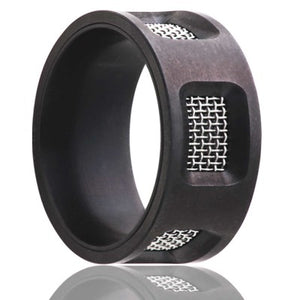 Flat Zirconium Wedding Band-Z198