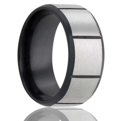 Zirconium Wedding Band Z243