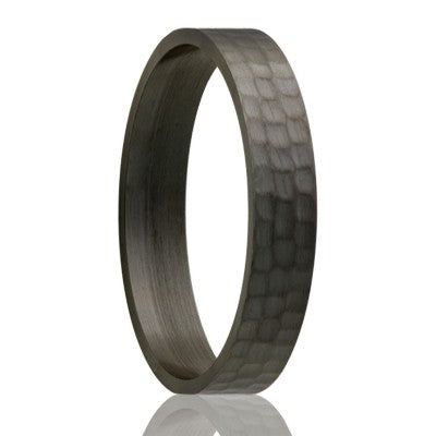 Zirconium Hammer Twist Ring