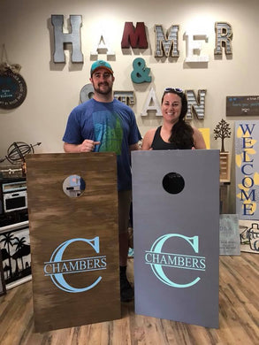 10/19/19 10-12:30 pm Custom Corn hole Board Workshop