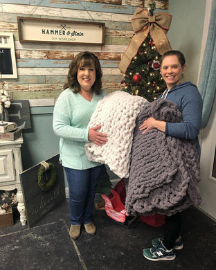 Virtual Cozy Hand Knit Blanket Workshop